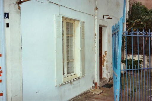 ...my window and the back door to the building.  Did you enjoy the tour?  That will be 4€, thank you.