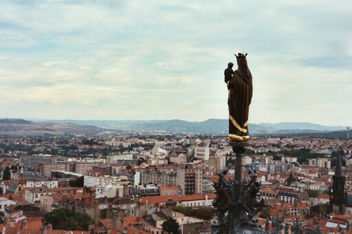 The Virgin Mary looking out over Clermont-Ferrand