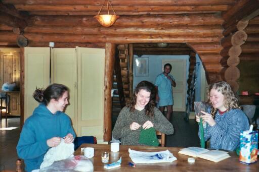 vichyssoises knitting (and Stefan in PJs)