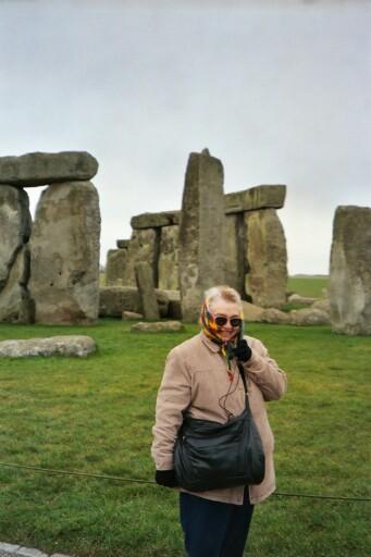 Grandma at Stonehenge