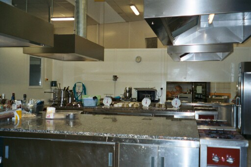 one of the kitchens of the restaurant gastronomique