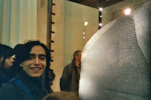 Alex and the Rosetta Stone, at the British Museum