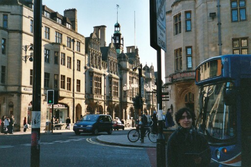 Alex in the streets of Oxford