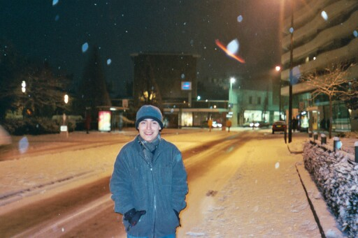 Alex in Vichy's first snow of the season